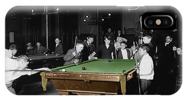 Vintage Pool Hall IPhone Case