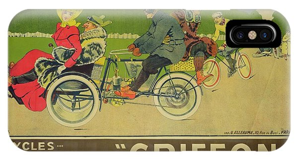 Griffon iPhone Case - Vintage Poster Bicycle Advertisement by Walter Thor