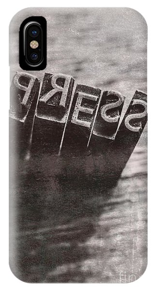 Ink iPhone Case - Vintage Press Industry Blocks by Jorgo Photography - Wall Art Gallery