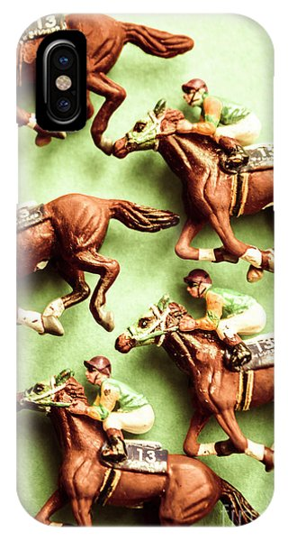 Wood Carving iPhone Case - Vintage Racehorse Art by Jorgo Photography - Wall Art Gallery