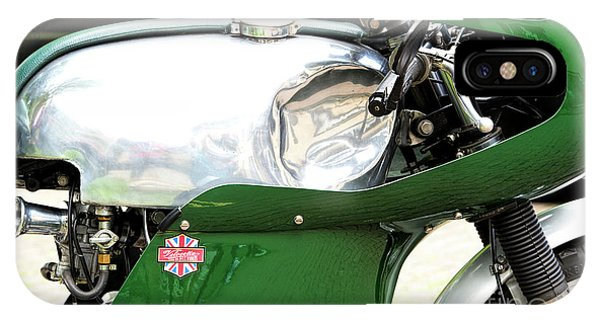 Fare iPhone Case - Vintage Racing Velocette by Tim Gainey