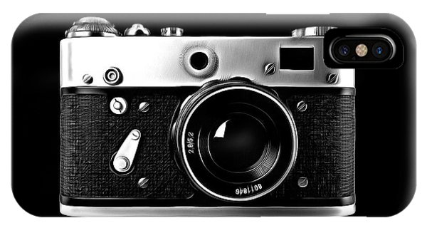 IPhone Case featuring the digital art Vintage Rangefinder Film Camera by Edward Fielding