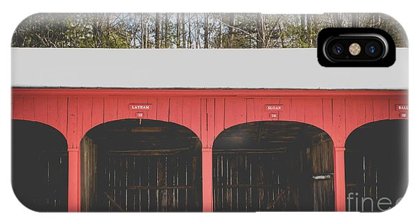 New England Barn iPhone Case - Vintage Red Carriage Barn Lyme by Edward Fielding