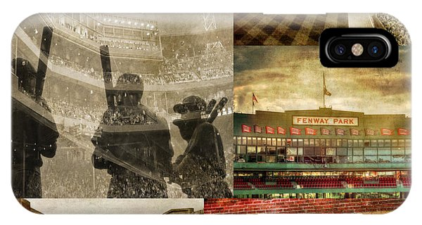 Vintage Red Sox Fenway Park Baseball Collage IPhone Case