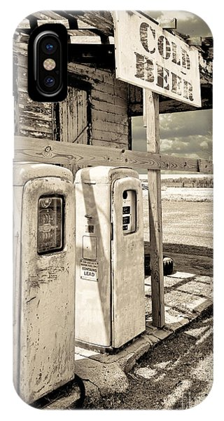 Gas Station iPhone Case - Vintage Retro Gas Pumps by Mindy Sommers