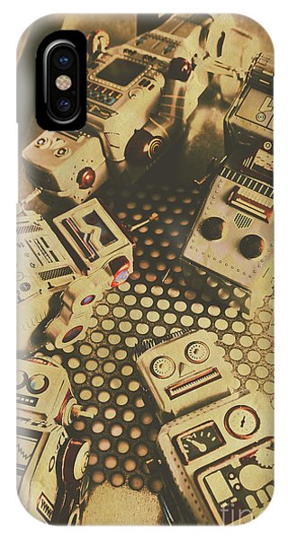 1960s iPhone Case - Vintage Robot Charging Zone by Jorgo Photography - Wall Art Gallery