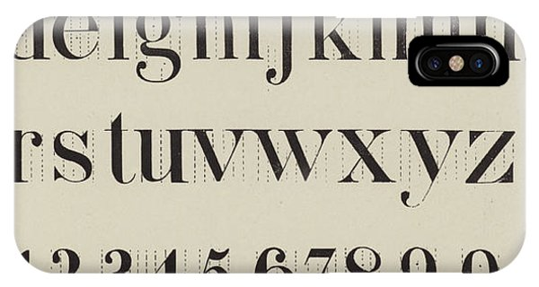 1 iPhone Case - Vintage Roman Analytical Font by English School