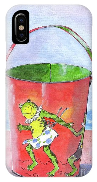 Vintage Sand Pail Dancing Frogs IPhone Case