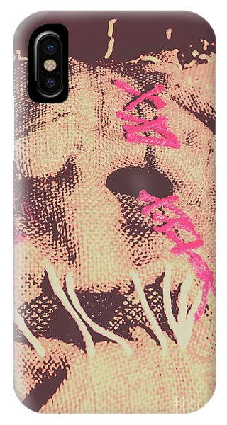 Nobody iPhone Case - Vintage Scarecrow Mask by Jorgo Photography - Wall Art Gallery