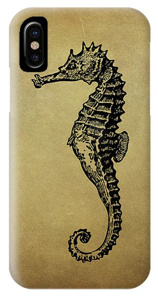 Vintage Seahorse Illustration IPhone Case