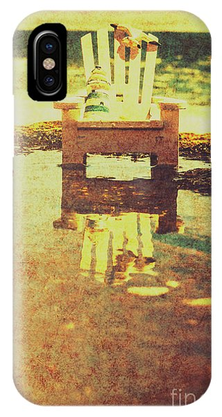 Beach Chair iPhone Case - Vintage Seaside Vacationing by Jorgo Photography - Wall Art Gallery