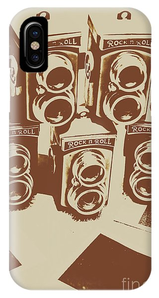 Camera iPhone Case - Vintage Snapshots And Old Cameras by Jorgo Photography - Wall Art Gallery