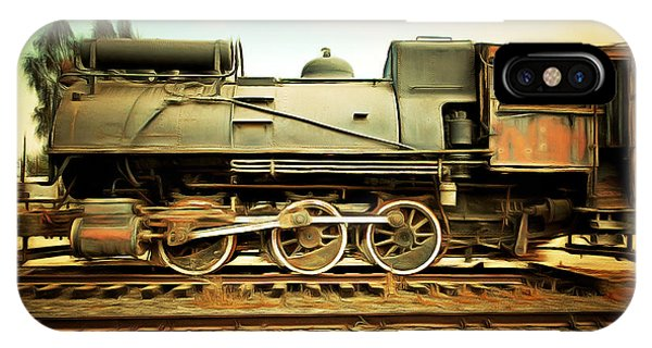 Vintage Steam Locomotive 5d28362brun IPhone Case