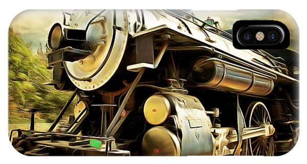 Vintage Steam Locomotive 5d29110brun IPhone Case