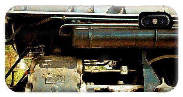 Vintage Steam Locomotive 5d29112brun Sq IPhone Case