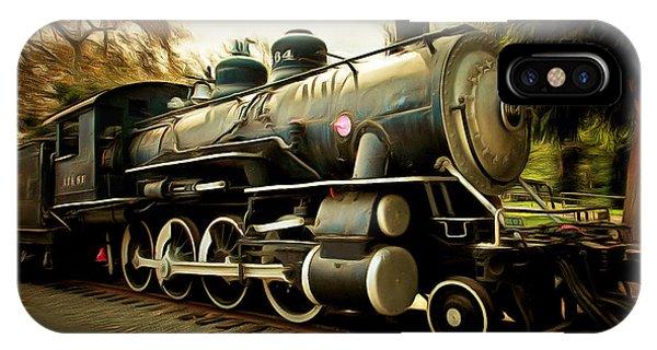 Vintage Steam Locomotive 5d29122brun IPhone Case
