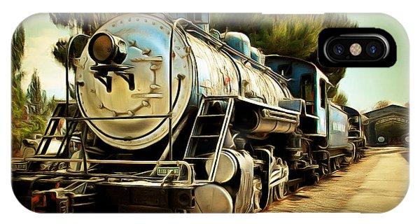 Vintage Steam Locomotive 5d29135brun IPhone Case