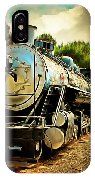 Vintage Steam Locomotive 5d29138brun IPhone Case
