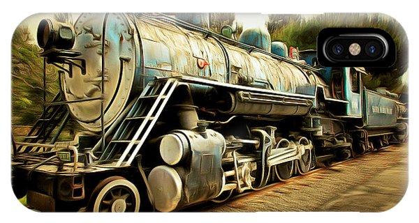 Vintage Steam Locomotive 5d29142brun IPhone Case