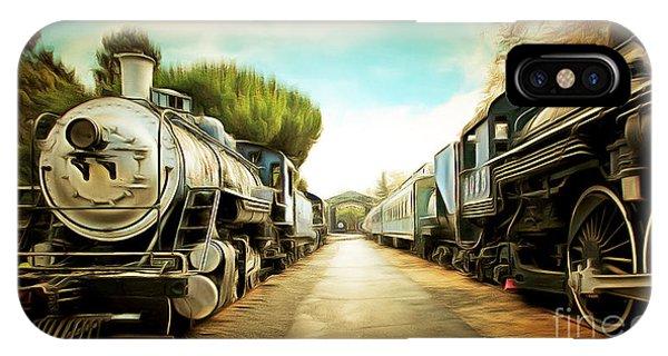 Vintage Steam Locomotive 5d29143brun IPhone Case