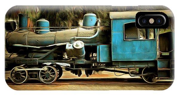 Vintage Steam Locomotive 5d29167brun IPhone Case