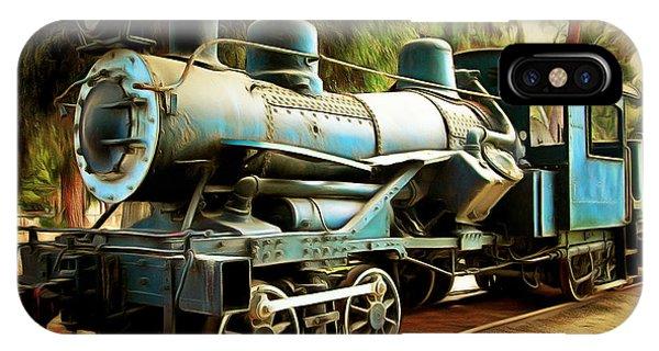 Vintage Steam Locomotive 5d29168brun IPhone Case