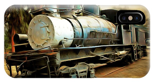 Vintage Steam Locomotive 5d29172brun IPhone Case