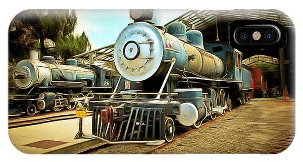 Vintage Steam Locomotive 5d29179brun IPhone Case