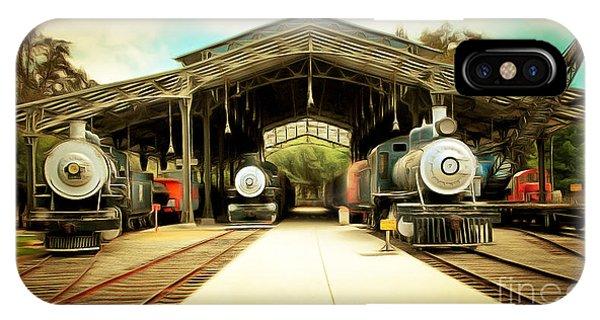 Vintage Steam Locomotive 5d29186brun IPhone Case