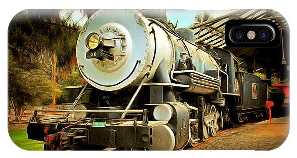 Vintage Steam Locomotive 5d29200brun IPhone Case