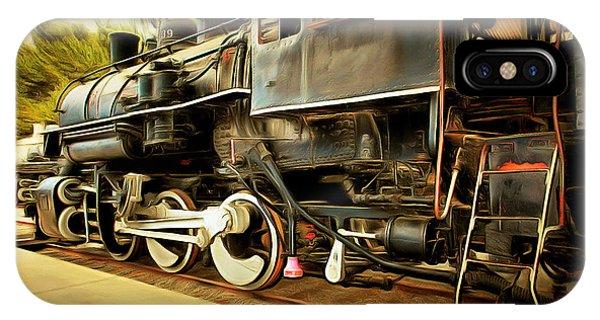 Vintage Steam Locomotive 5d29222brun IPhone Case