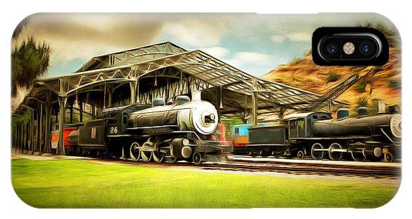 Vintage Steam Locomotive 5d29279brun IPhone Case
