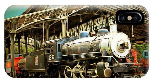Vintage Steam Locomotive 5d29281brun IPhone Case