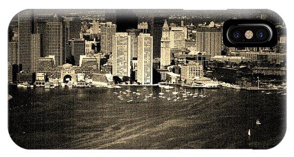 Vintage Style Boston Skyline IPhone Case