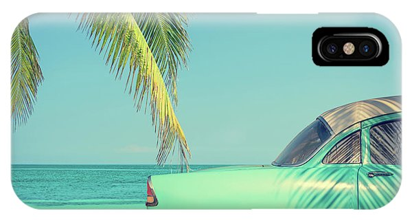 Cuba iPhone Case - Vintage Summer by Delphimages Photo Creations