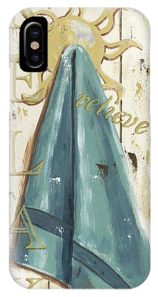 Tan iPhone Case - Vintage Sun Beach 2 by Debbie DeWitt