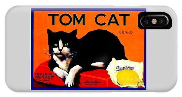 Vintage Sunkist Tom Cat IPhone Case