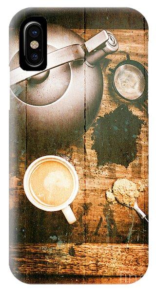 Vintage Tea Crate Cafe Art IPhone Case