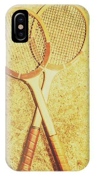 Racquet iPhone Case - Vintage Tennis Racquets by Jorgo Photography - Wall Art Gallery