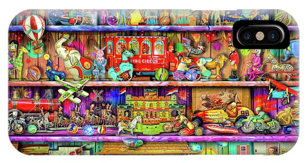 Shelves iPhone Case - Vintage Toys II by MGL Meiklejohn Graphics Licensing