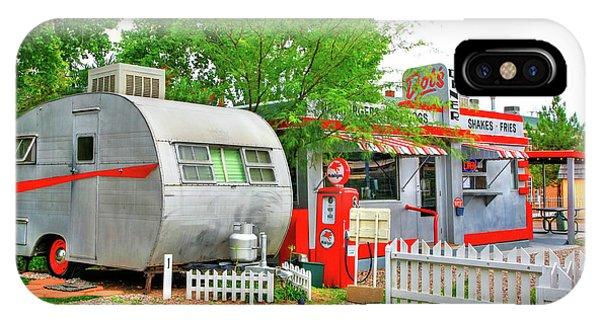Vintage Trailer And Diner In Bisbee Arizona IPhone Case