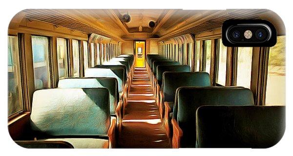 Vintage Train Passenger Car 5d28306brun IPhone Case
