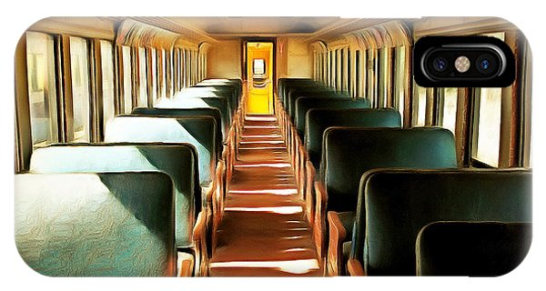 Vintage Train Passenger Car 5d28306brun Square IPhone Case