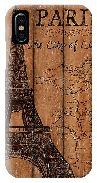 Eiffel Tower iPhone Case - Vintage Travel Paris by Debbie DeWitt