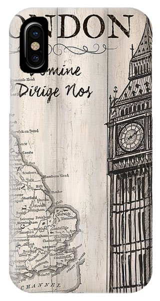Ben iPhone Case - Vintage Travel Poster London by Debbie DeWitt