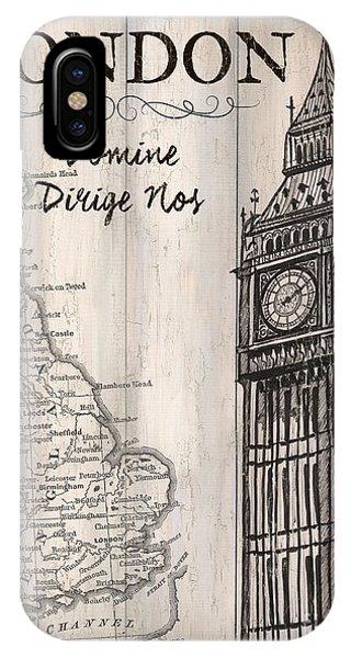 Vintage Camera iPhone Case - Vintage Travel Poster London by Debbie DeWitt