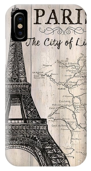 Arched iPhone Case - Vintage Travel Poster Paris by Debbie DeWitt