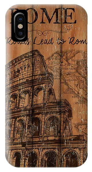 Verse iPhone Case - Vintage Travel Rome by Debbie DeWitt