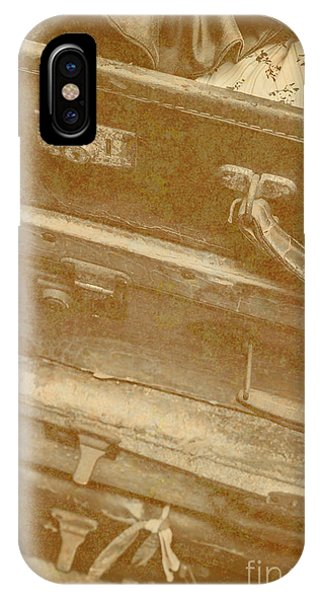 Timeworn iPhone Case - Vintage Travel Stack by Jorgo Photography - Wall Art Gallery