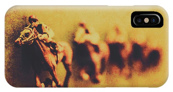 Horseman iPhone Case - Vintage Trots by Jorgo Photography - Wall Art Gallery